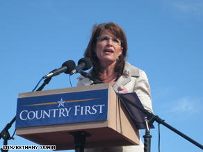 Palin campaigned in Pennsylvania Saturday.