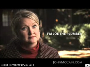 Sen. McCain's new tv ad focuses on taxes and Sen. Obama's conservation with Joe Wurzelbacher.
