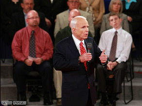 Does McCain offer 'more tax cuts for job outsourcing?'.