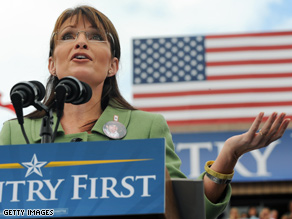 Palin outlined policy for special needs children today in Pennsylvania.