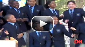 Watch students from The Ron Clark Academy perform their election rap.