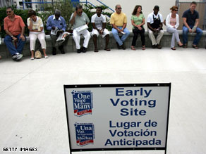 Residents in Florida have run into long lines as they vote early.
