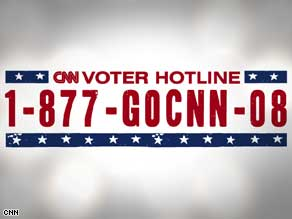 Call CNN&#039;s voter hotline with your concerns or problems with voting.