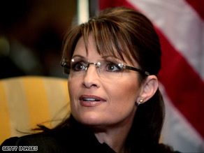 Gov. Sarah Palin met with the wife of a fallen soldier Sunday.