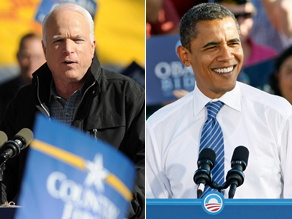 CNN Poll of Polls says 51% are voting for for Obama and 43% say they're voting for McCain.