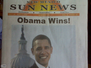 A New Mexico paper has declared Obama the winner.