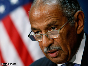  Conyers called for an investigation into the leak over Obamas aunt.