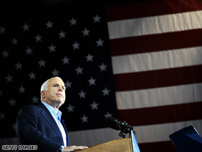 McCain trails Obama in Virginia.