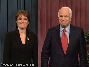 Sen. John McCain appeared on 'Saturday Night Live' and poked fun at his own campaign.'