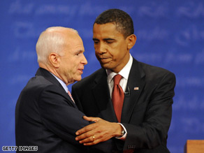 Sen. Obama is leading Sen. McCain in Nevada, North Carolina and Ohio according to the latest CNN Poll of Polls.