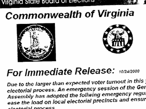A bogus flyer telling Democrats to vote the day after Election Day has been discovered.