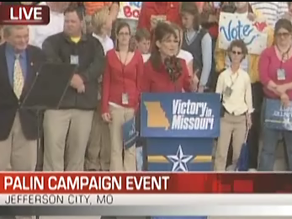 Palin campaigned in Missouri earlier Monday.
