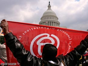 ACORN members rally in Washington last March.