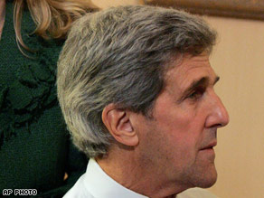 John Kerry watched election returns.