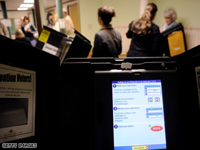Across the state from Lancaster County, a Pittsburgh, PA voting machine.