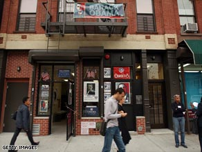 Obama headquarters in Harlem today.