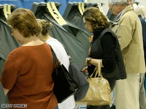 Virginia voters at the polls in Alexandria.