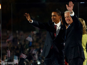 Barack Obama and Joe Biden announced their transition team Wednesday.
