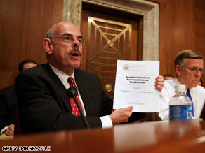 Rep. Henry Waxman wants to be the next Chairman of the House Energy and Commerce committee.