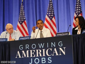Obama at an economic summit last month.