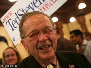 Stevens at an election night celebration.