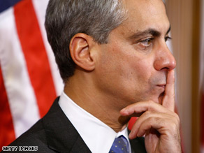 Rahm Emanuel will be Obama's White House chief of staff.