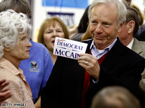 Lieberman was a strong supporter of John McCain's presidential bid.