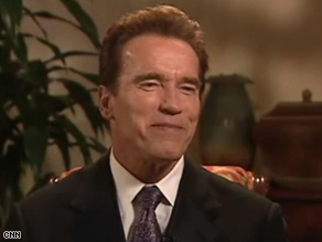 Gov. Arnold Schwarzenegger says his wife has been &#039;gloating&#039; about Barack Obama&#039;s win.