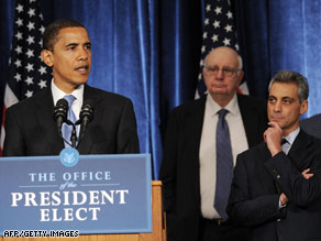 President-elect Barack Obama has said he intends to move with 'deliberate haste' in making appointments.