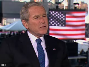 Bush reflected on his presidency Tuesday.