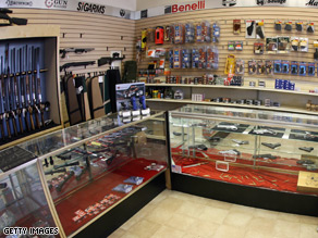 Owners of gun shops are seeing higher sales since late October.