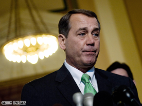 Boehner is being challenged for his leadership post.