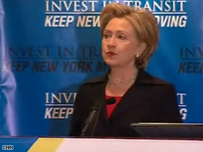Clinton spoke in Albany Friday.