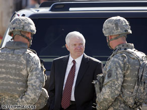 Secretary of Defense Gates met with President-elect Barack Obama's transition team Thursday.