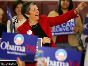 Napolitano is Obama's choice for Homeland Security Secretary, sources say.