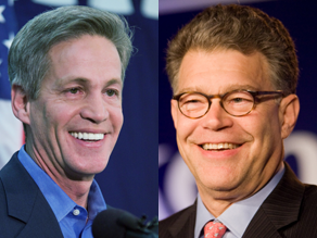 Coleman and Franken are separated by less than 200 votes.
