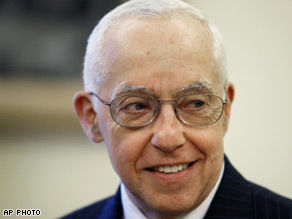 Mukasey collapsed at the podium on Friday.