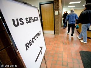 The recount in Minnesota could stretch into December.
