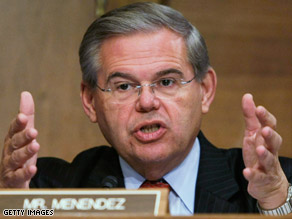 'This one's a game-changer,' New Jersey Sen. Bob Menendez said in the message.