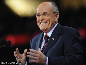 Rudy Giuliani will hit the campaign trail with Saxby Chambliss in Georgia on Tuesday.