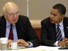 Volcker will head a new Obama economic team.