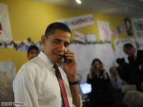 Above: Pre-election Obama makes a slightly smoother call.