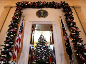 Festivities commence at the White House.
