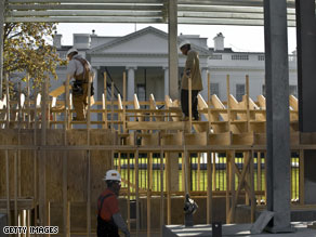 Preparation for Obama's inauguration is already underway in Washington, D.C.