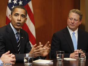 President-elect Barack Obama and former Vice President Al Gore met to discuss environmental policy and job creation.