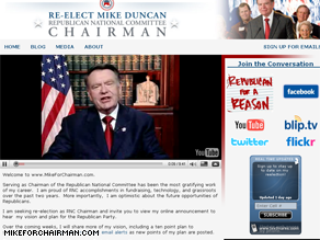 Duncan is out with a Web site to tout his reelection hopes.