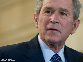 President Bush may use money from the Treasury program in hopes of avoiding the bankruptcy of U.S. automakers.