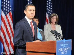 Obama announced his energy team Monday.