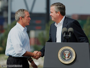 Pres. Bush told CNN Tuesday that he'd like to see his brother Jeb run for political office again.