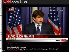 Watch Rod Blagojevich respond to his arrest on cnn.com/live.